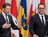 BK Sebastian Kurz (l.) und VK Heinz Christian Strache