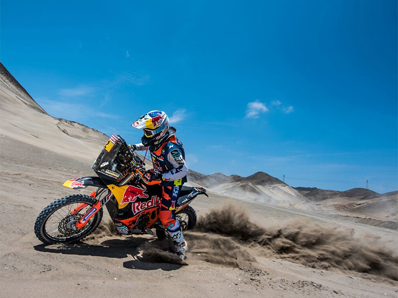 Matthias Walkner bei der Rallye Dakar