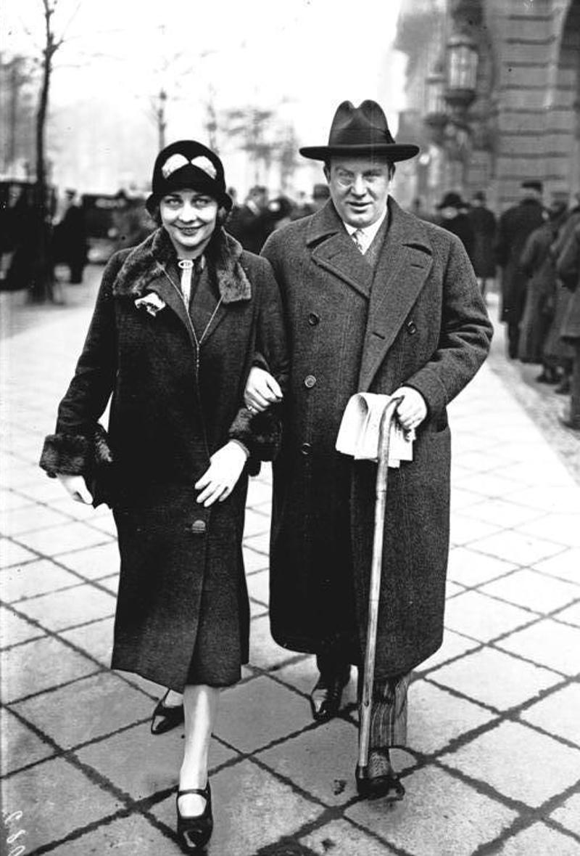 Richard Tauber mit Noch-Ehefrau Carlotta Tauber-Vanconti im November 1928