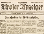 Titelseite des Tiroler Anzeiger