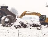 Baubranche Bauen Winter Schnee