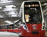 "Präsentation der neuen Straßenbahngeneration ""FLEXITY"""