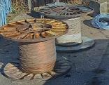 gestohlene Kupferkabel