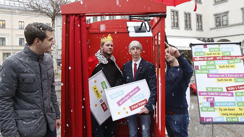 SPÖ Wahlkampf Fotobox