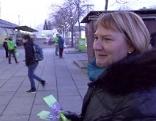 Helga Krismer auf Wahlkampftour