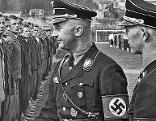 Heinrich Himmler nimmt Appell von SS - Männern in Salzburg - Nonntal ab Nationalsozialismus NS Nazi Nationalsozialisten