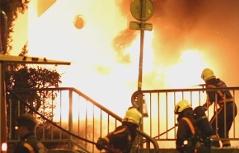 Brand Audi ausgebrannt Fluchtauto Auto brennt in der Stadt