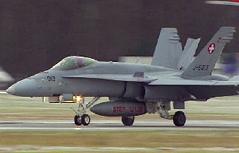 Erstmals Schweizer F-18-Kampfjets in Salzburg