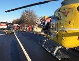Rettungseinsatz nach Unfall auf Umfahrung Oberwart