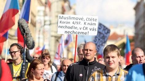 ilustrační foto z demonstrace pro přistěhovalcům
