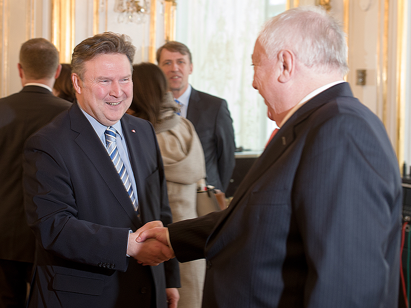 Michael Ludwig und Bürgermeister Michael Häupl