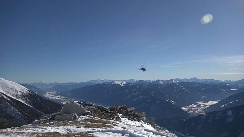 Kraftwerke Verbund Mölltal Kontrolle Flug Winter Schnee