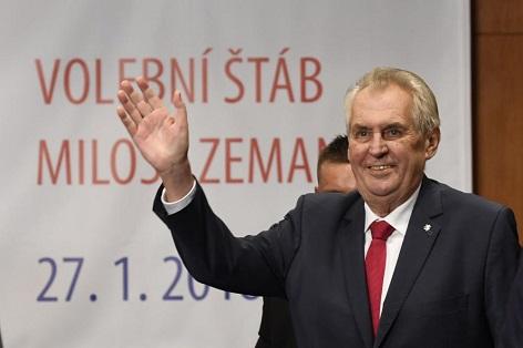 znovu zvolený prezident Miloš Zeman