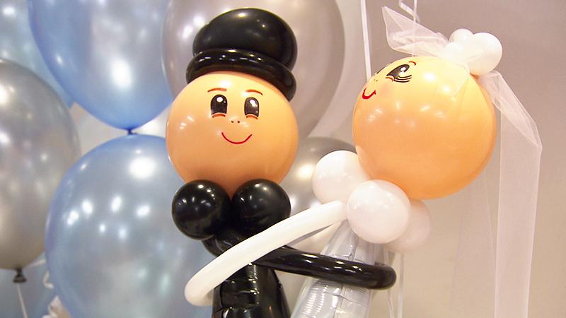 Hochzeitspaar aus Luftballons