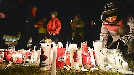 """""""Lichtermeer für Ute Bock"""" - Gedenkveranstaltung am Heldenplatz in Wien, 2.2.2018"""