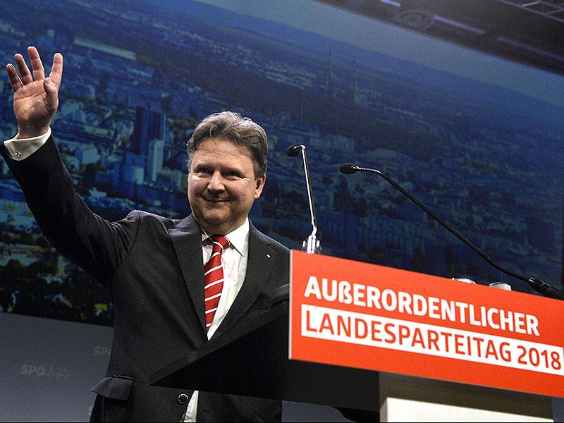 Michael Ludwig beim Landesparteitag der Wiener SPÖ in der Messe Wien im Jänner 2018