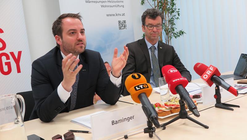 v.l.: ENAMO-Geschäftsführer Michael Baminger und KNV-Geschäftsführer Josef Köttl
