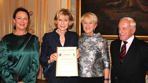 Judith Felkner, Barsiné Pataky Etelka, Maria Rauch-Kallat, Dr. Alfons René Haiden