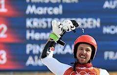 Marcel Hirscher gewinnt Olympia-Riesentorlauf