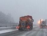 Schnee auf der Autobahn Thoerl-Maglern