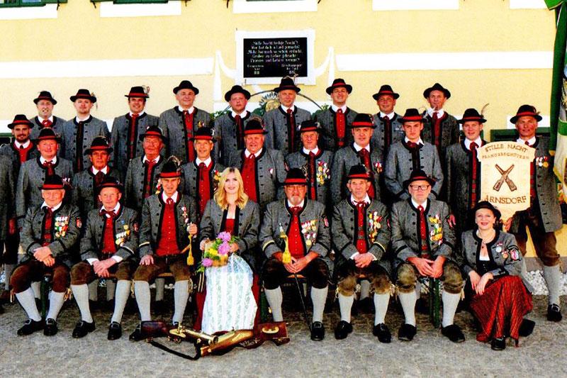 Gruppenbild der Stille Nacht Schützen Arnsdorf