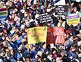 Stavka sviz SLO učitelji vzgojitelji protest demonstracija plače šola izobraževanje