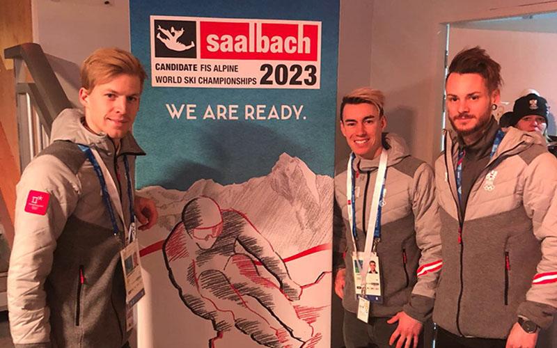 Saalbach Delegation im Österreich Haus