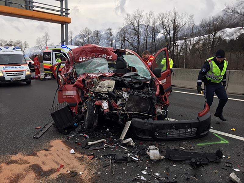 Verkehrsunfall auf der A12