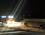 Steinbrunn Autobus Bergung von nicht geräumter Straße