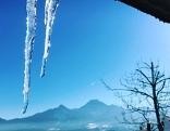 Eiszapfen Faaker See Suchaktion Eisläufer