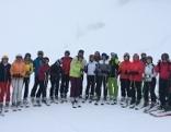 Skigruppe mit Claudia Schneider und Wolfgang Zanon