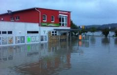 Haus unter Wasser in Marbach