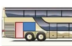 Intercity Bus Zeichnung Kofferraum