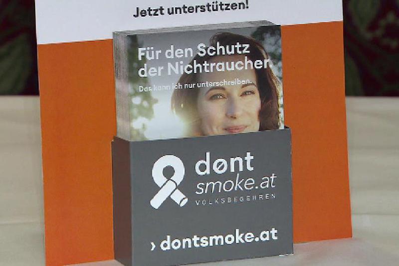 Broschüre Don't smoke Volksbegehren