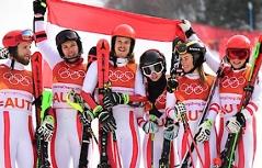 Olympische Spiele Pyeongchang Teambewerb Gallhuber