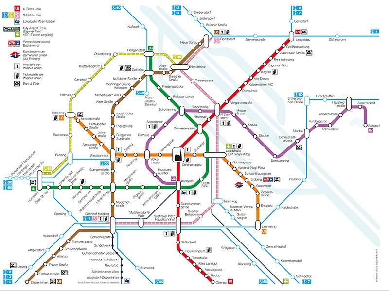 Übersicht Wiener Schnellverbindungen