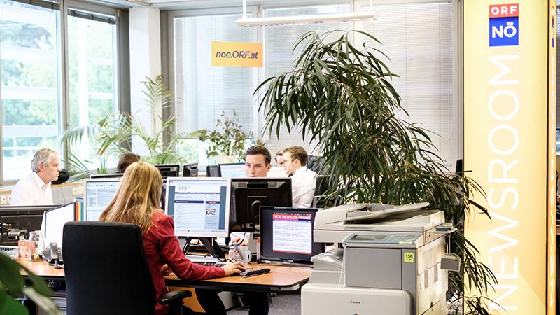 Newsroom Internet und soziale Medien