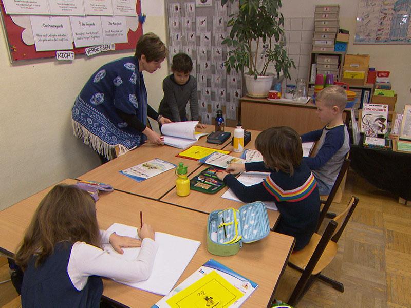 Mehrstufenklasse in der Volksschüle Brüßlgasse im 16. Bezirk.