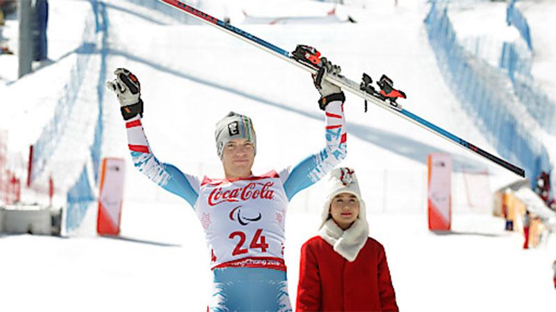 Markus Salcher nach dem zweiten Bronzelauf in Pyeongchang