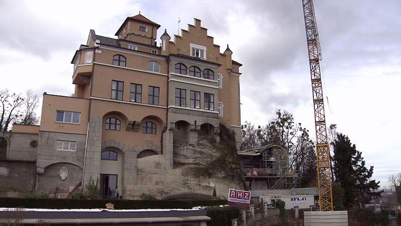 Hotel Schloss Mönchstein; Glaskuppel; moderner Anbau