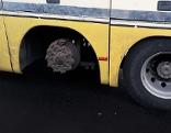 Desolater Reisebus Rad