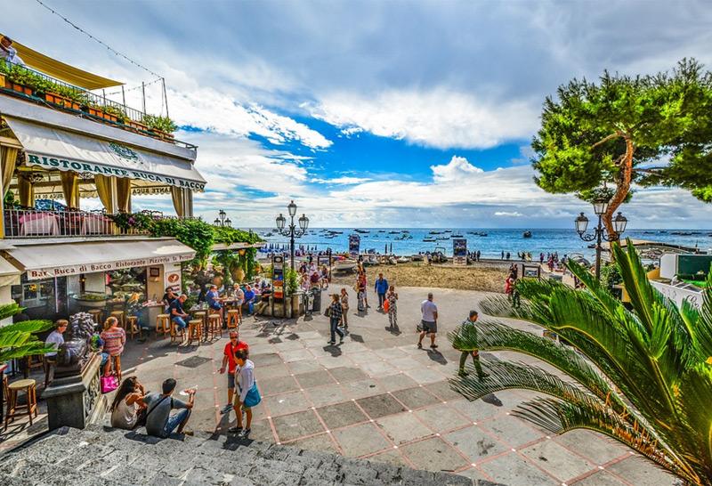 Urlaub in Italien: Strand in Amalfi