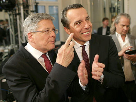 Jubel SPÖ Kaiser Kern