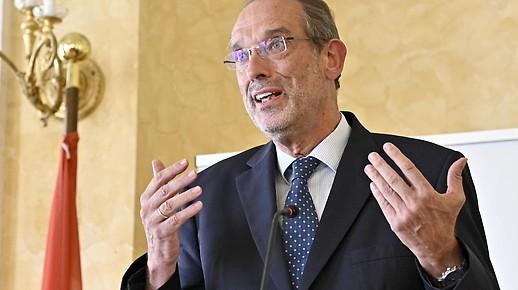 Le ministre de l'Éducation Heinz Fa§mann (?? VP) lors d'une conférence de presse sur la situation actuelle dans les écoles le mardi 15 septembre 2020 à Vienne.