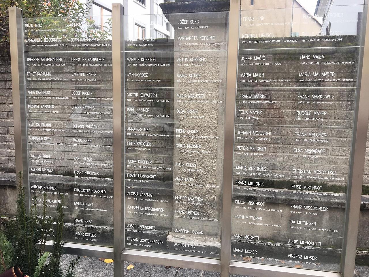 Denkmal der Namen in Villach