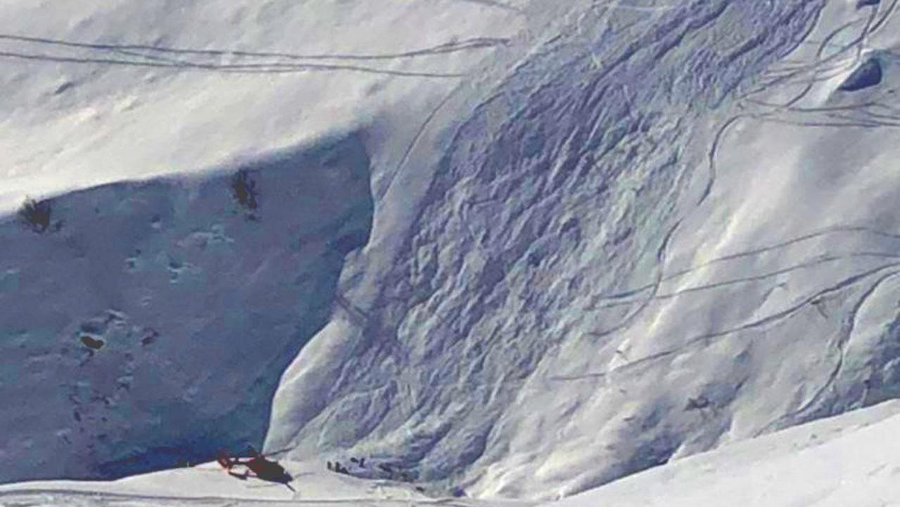 Lawine ging 250 Meter über einen ganzen Hang ab