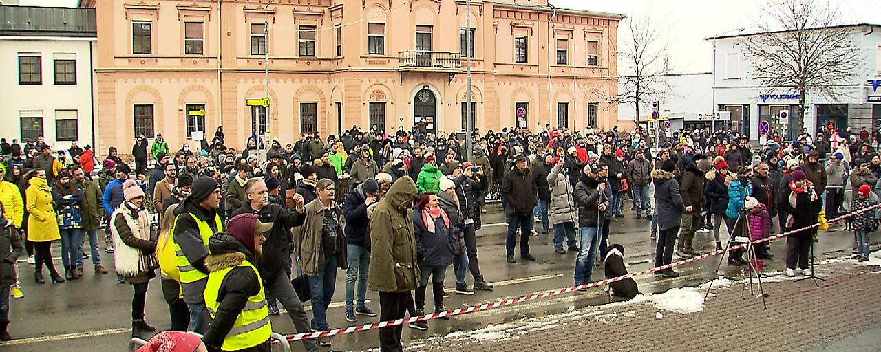Protest gegen CoV-Maßnahmen in Oberwart