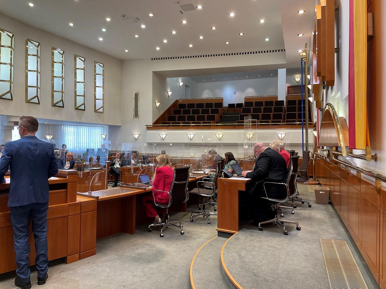 Sesión del parlamento estatal el 10 de junio de 2021