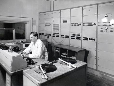 Historische Aufnahme eines Regieplatzes