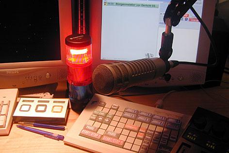 Radio-Nachrichtenstudio
